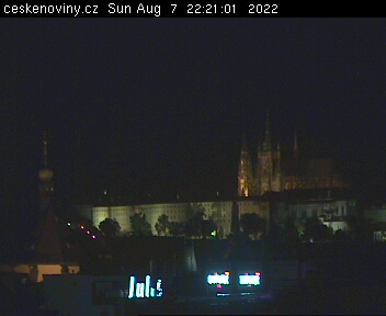 Prague webcam - Prague Castle from Opletalova street webcam, Bohemia, Prague
